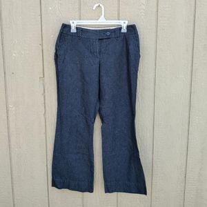 Loft dark denim colored trousers